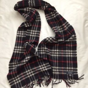 Auth Burberry Cashmere Scarf